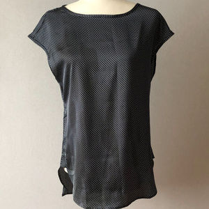 Banana Republic Navy Blouse With White Dots Size S